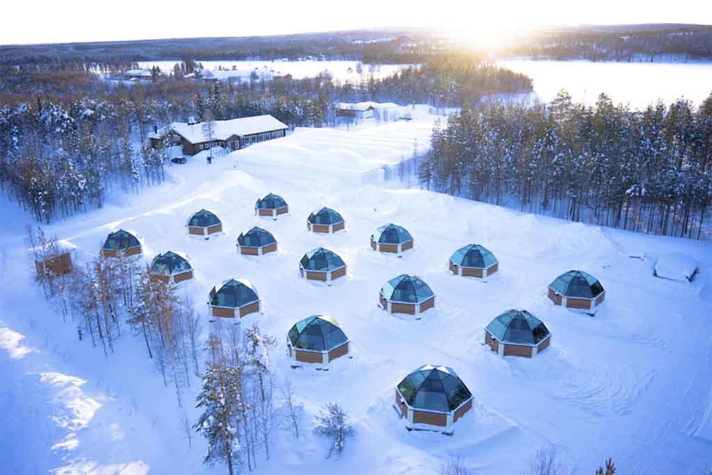 viaje a Laponia con niños. Observa las auroras boreales