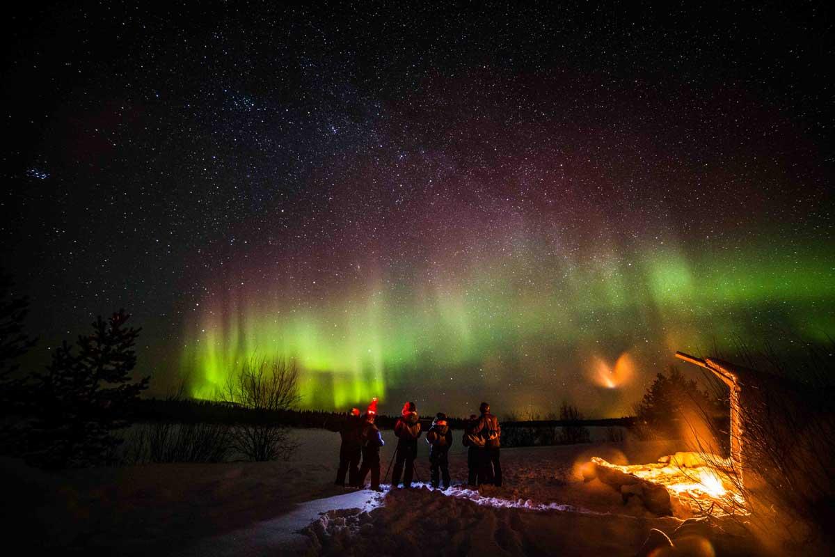desnowtrips : laponia aurora boreal fin de año