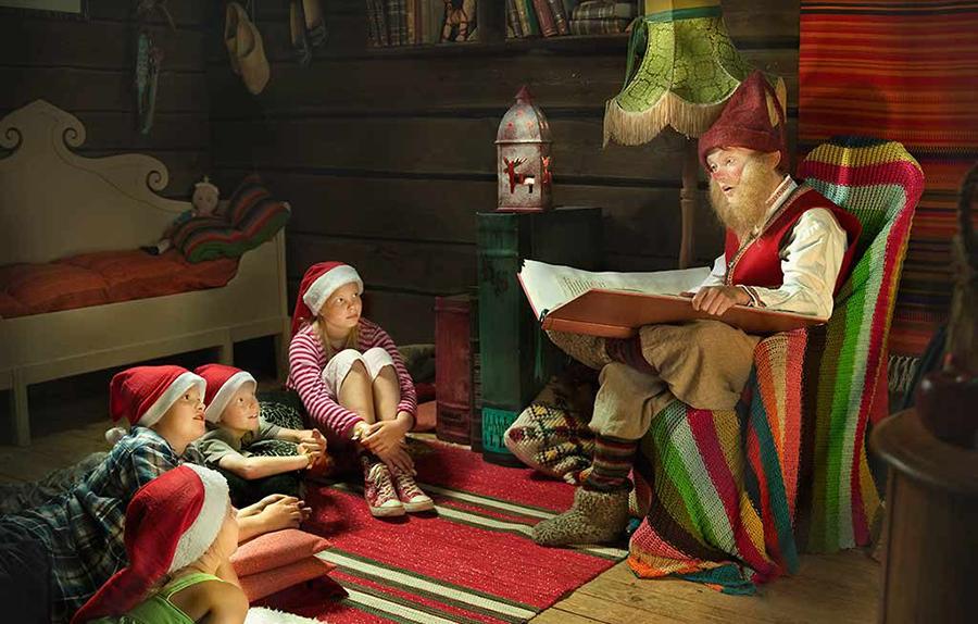 casa de Papa Noel en Laponia