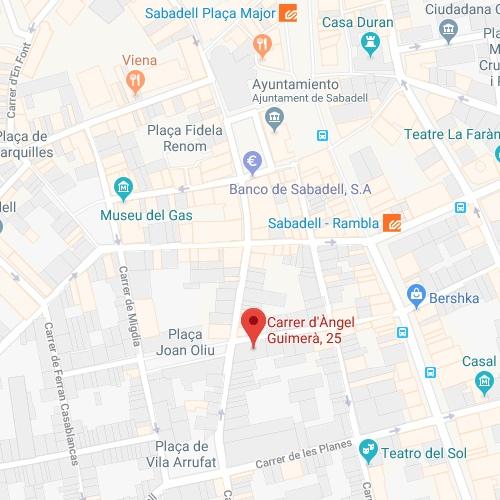 mapa agencia de viajes en Sabadell