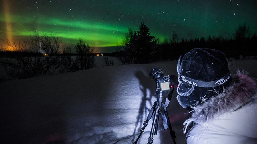 Caza de Auroras Boreales con guías expertos